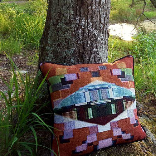 DMNDS Throw Pillow - Jacquard Weave Front